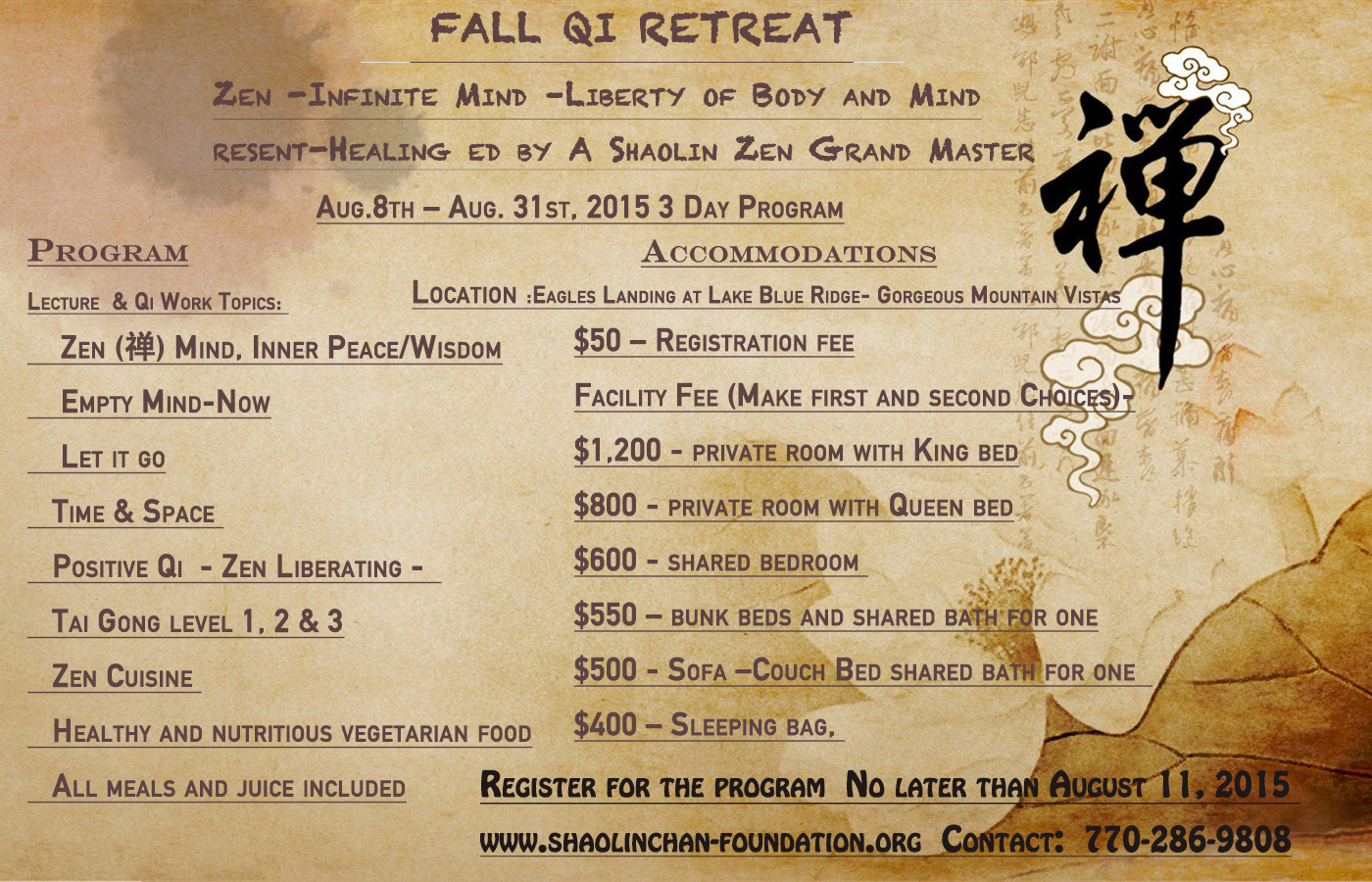 fall qi retreat 2015